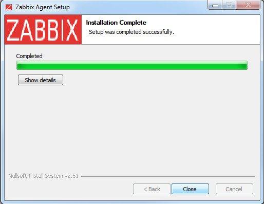 Установка Zabbix agent